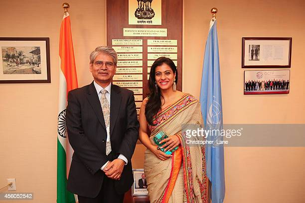 Handwashing ambassador and Help A Child Reach 5 advocate Kajol discuses hygiene programmes to reduce child mortality with India's ambassador to the...