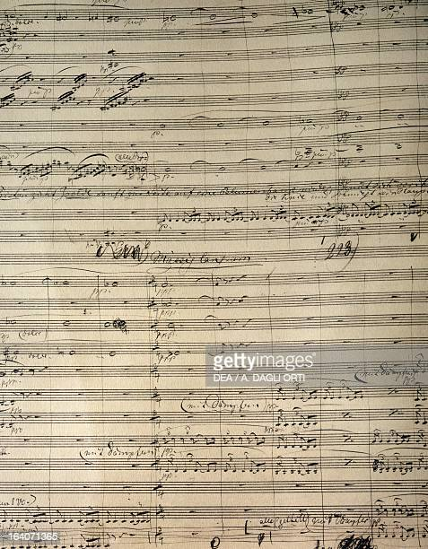 Handwritten score for Act II of Tristan and Isolde by Richard Wagner Bayreuth RichardWagnerMuseum