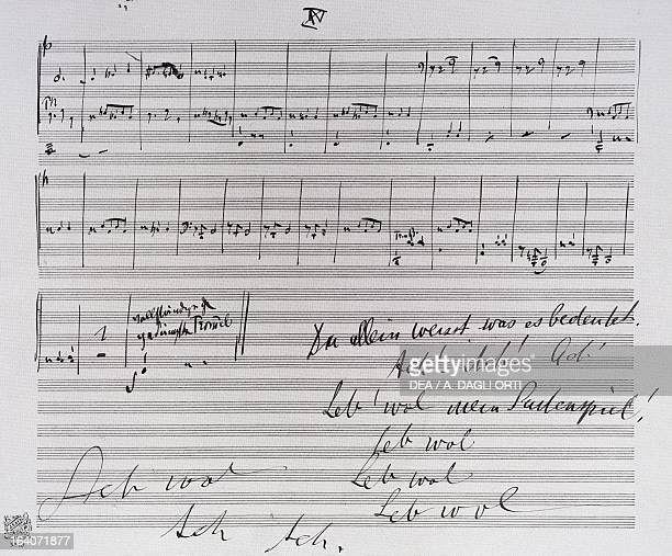 Handwritten score for Fourth symphony by Gustav Mahler Vienna Gesellschaft Der Musikfreunde