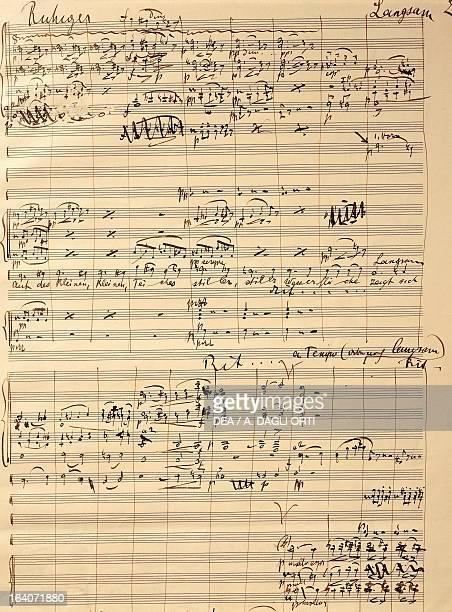 Handwritten score for Lied von der Erde 19081909 by Gustav Mahler Vienna Gesellschaft Der Musikfreunde