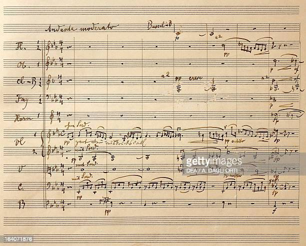 Handwritten score for Symphony No 4 in G major 18991901 by Gustav Mahler Vienna Gesellschaft Der Musikfreunde