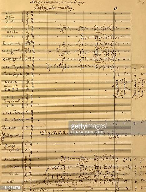 Handwritten score for Symphony No 6 first movement Gustav Mahler Vienna Gesellschaft Der Musikfreunde