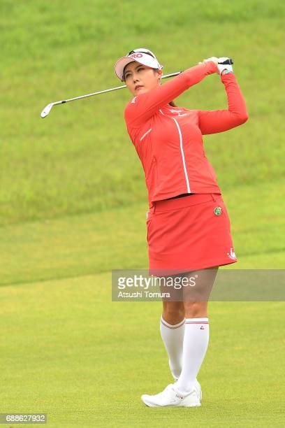HaNeul Kim of South Korea hits her second shot on the 1st hole during the first round of the Resorttrust Ladies at the Oakmont Golf Club on May 26...