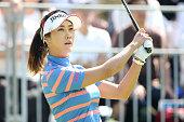 HaNeul Kim of South Korea hits her tee shot on the 1st hole during the final round of the Munsingwear Ladies Tokai Classic at the Shin Minami Aichi...