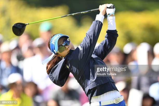 HaNeul Kim of South Korea hits her tee shot on the 1st hole during the final round of the Resorttrust Ladies at the Oakmont Golf Club on May 28 2017...