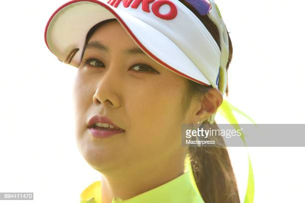 HaNeul Kim of South Korea looks on during the third round of the Suntory Ladies Open at the Rokko Kokusai Golf Club on June 10 2017 in Kobe Japan