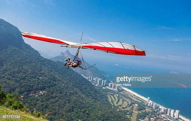 Hang gliding in Rio de Janeiro.