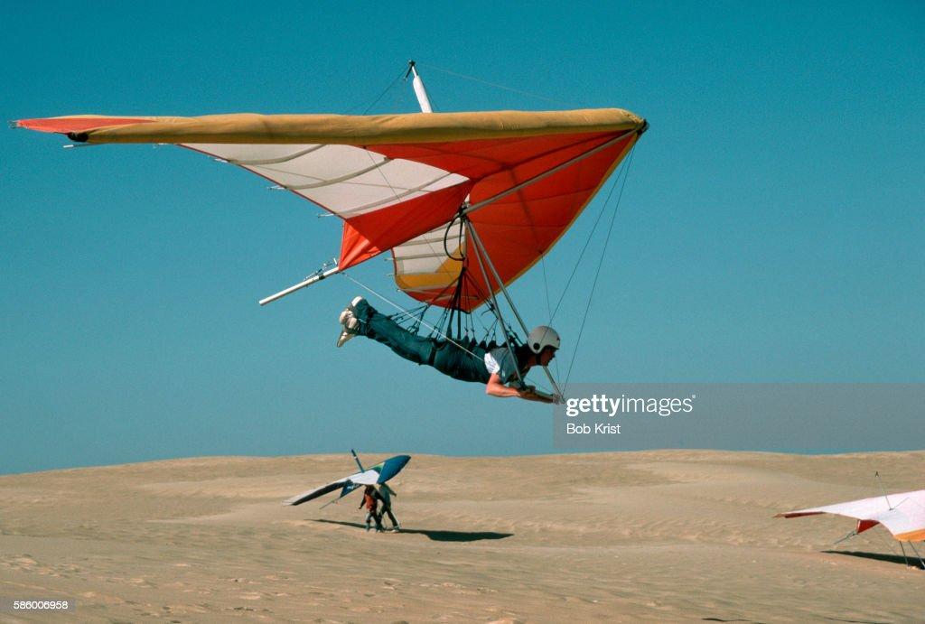 Hang Gliding Over Dunes in North Carolina