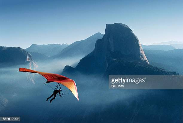 Hang Gliding Over Yosemite Valley