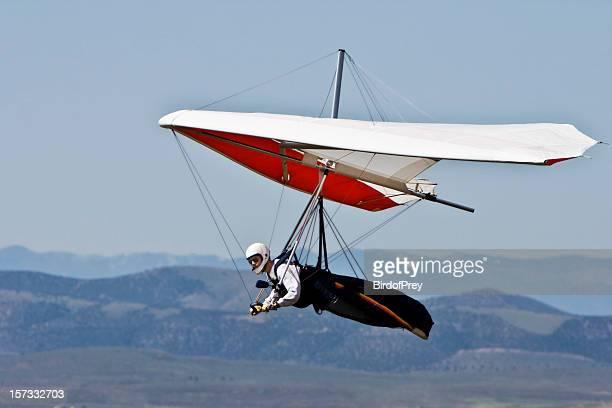 Hang Gliding up High.