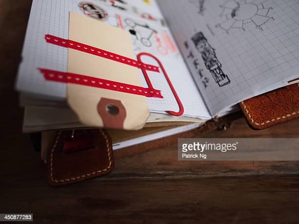 hang tag bookmark masking tape paper notebook