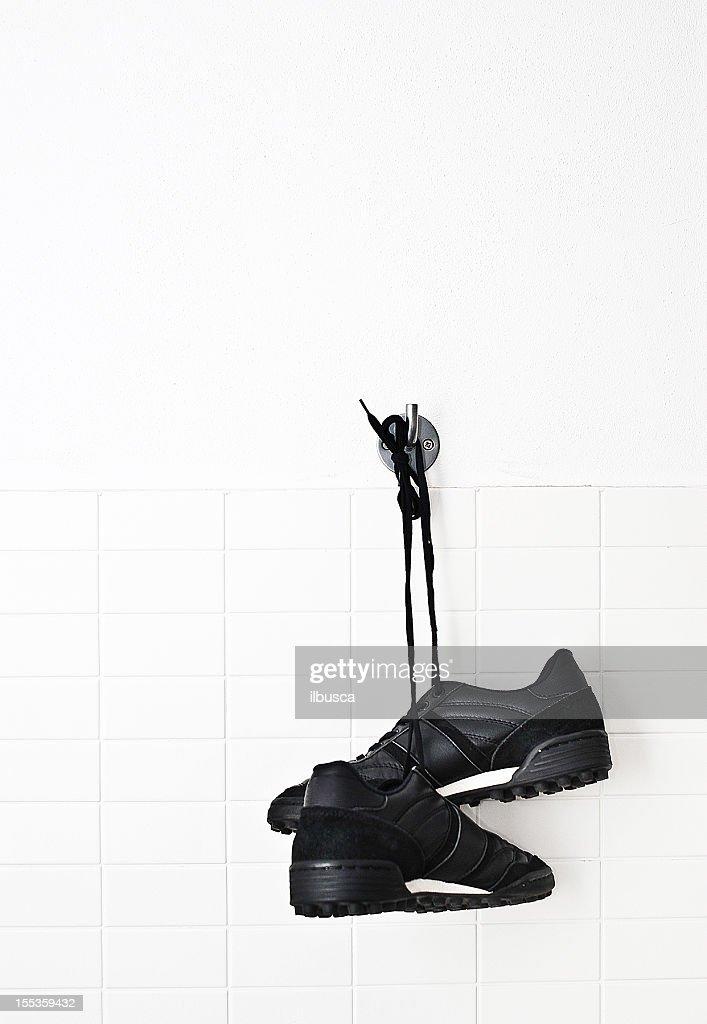 Hang up soccer shoes