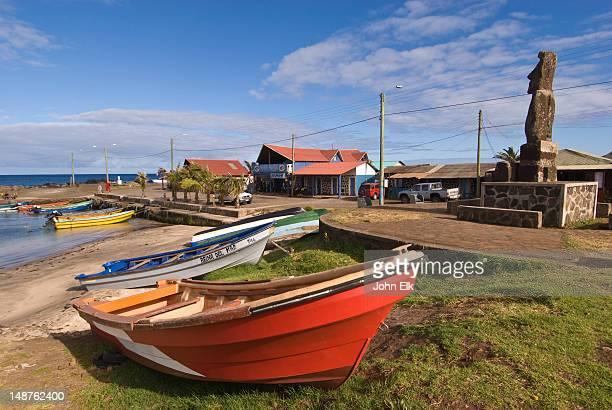 Hanga Roa town harbour.