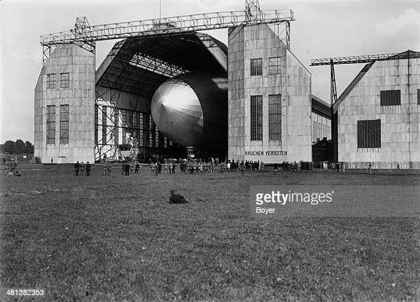 Hangar of the 'Graf Zeppelin' dirigible Friedrichshafen 1928