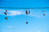 Hanged shoes