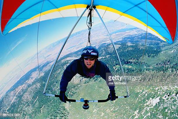 Hang-glider, front view, Nevada, USA (wide angle)