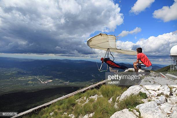 Hangglider en action