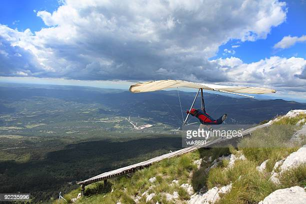 Hangglider in Aktion