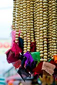 Hanging beads, religious offerings