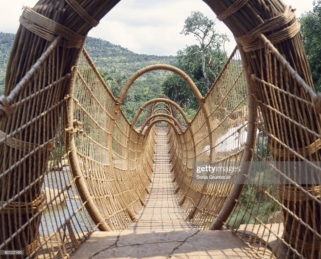 Hanging bridge at the Lost City in Sun City, Northern Province, South Africa