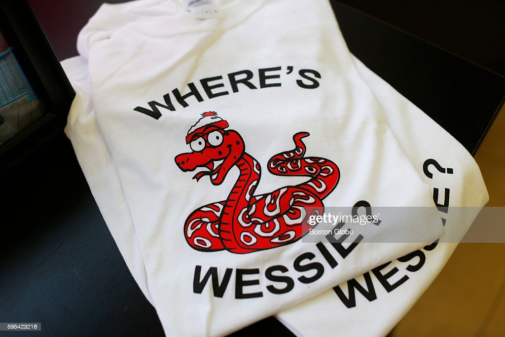 Hanging By a Thread LLC made up a small run of 'Where's Wessie' tshirts to sell at their store in Portland Maine Aug 24 2016 'We only have 3 left '...
