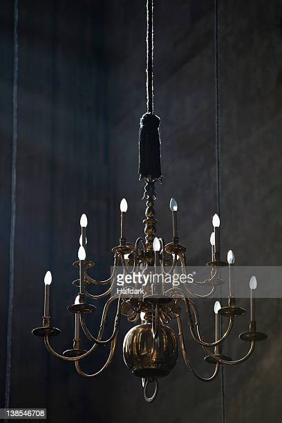 A hanging chandelier