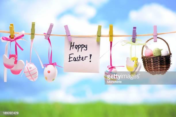 Décoration de Pâques colorés suspendus