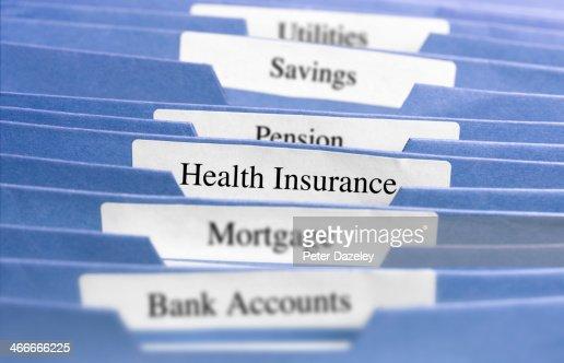 Hanging files/health insurance
