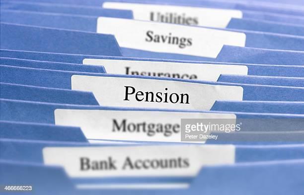 Hanging files/pension