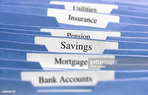 Hanging files/savings