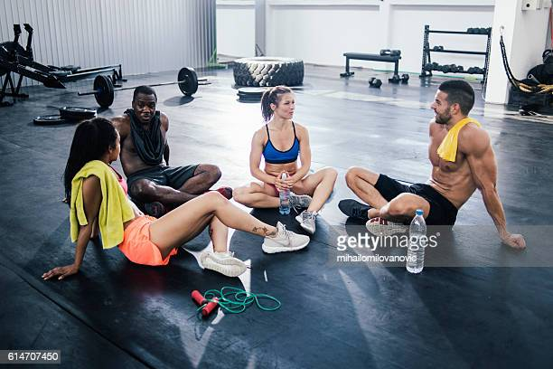 Hanging out after hard workout