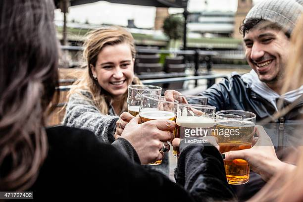 Hanging out with a fresh beer in a London Pub