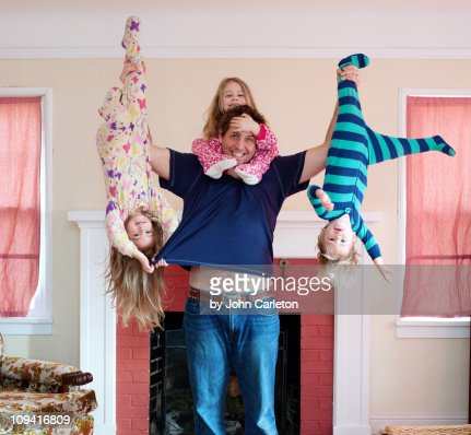 Hanging out with Dad : Stock Photo