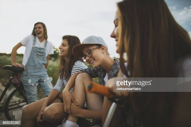 Hanging out with friends