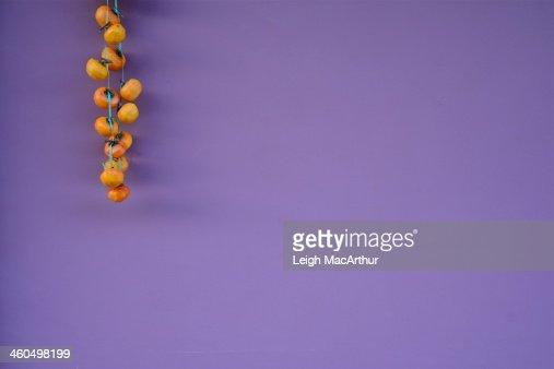Hanging persimmons