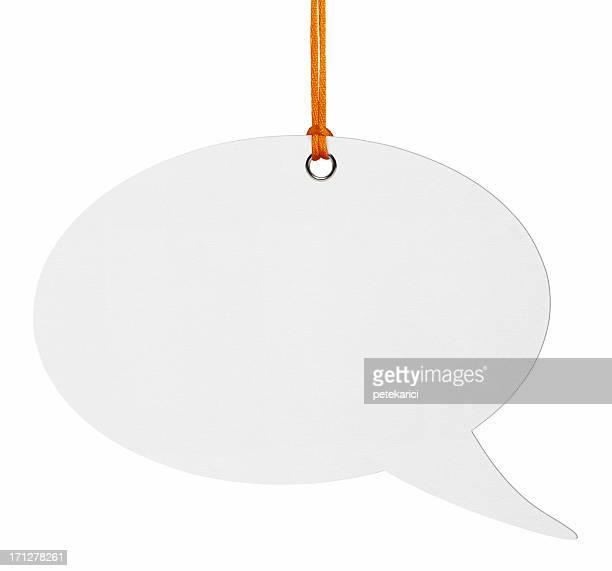 Pendere discorso bolle (Clipping Path)