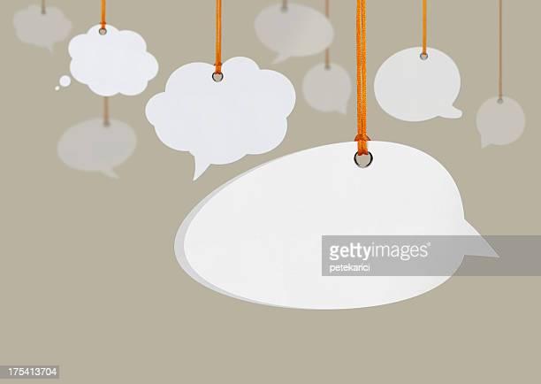 Hanging discurso burbujas