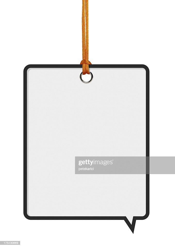 Hanging Speech Bubbles : Stock Photo