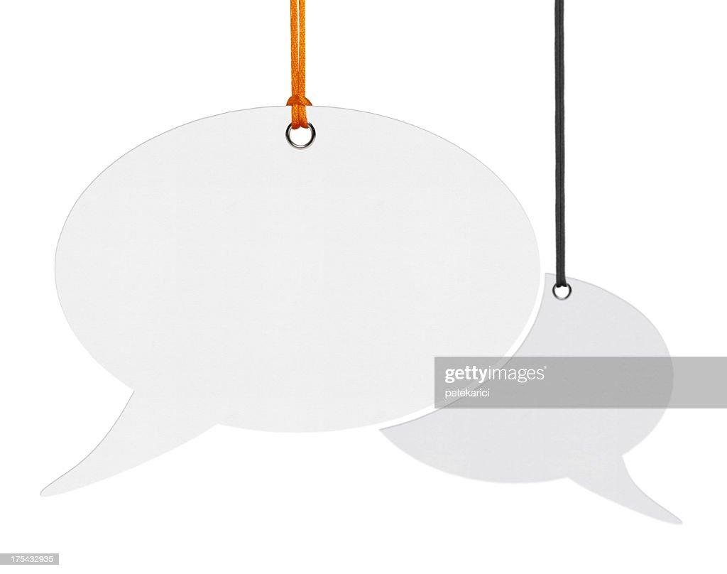 Hanging Speech Bubbles : Stock Photo