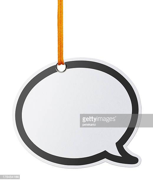 Hanging Speech Bubbles (Clipping Path)