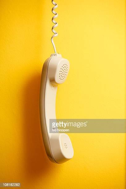Hanging telephone horn