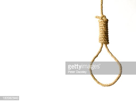 hangmans noose on white background and copy space stock photo getty images. Black Bedroom Furniture Sets. Home Design Ideas