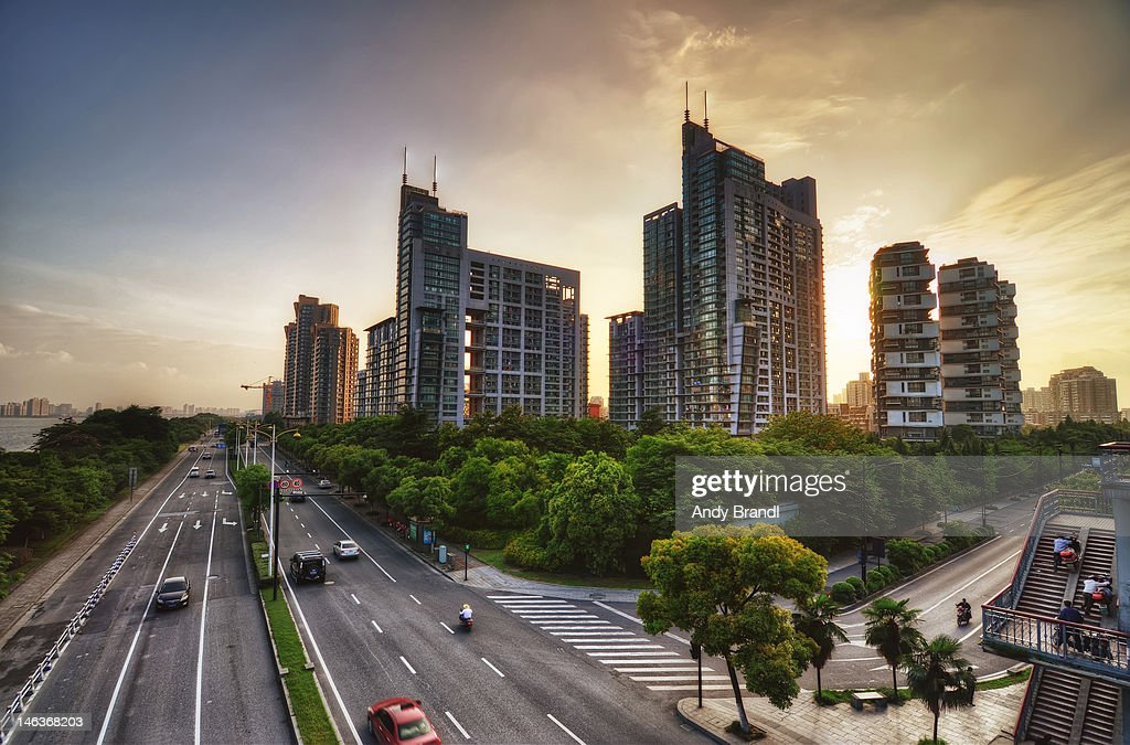 Hangzhou urban movement : Stock Photo