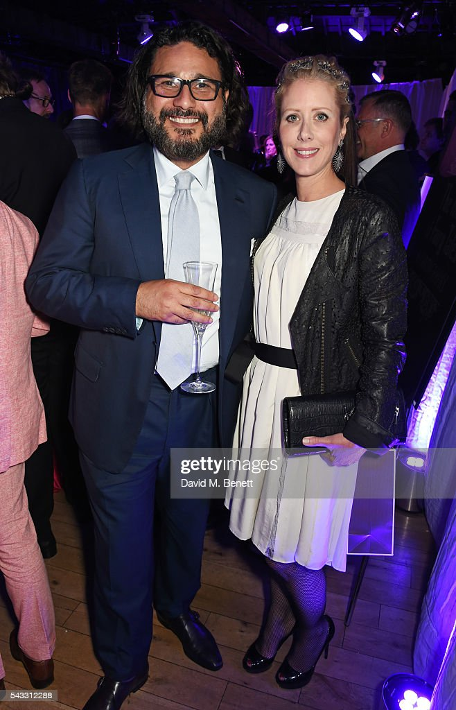 Hani Farsi (L) and Elizabeth Esteve attend the Summer Gala for The Old Vic at The Brewery on June 27, 2016 in London, England.