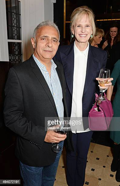 Hanif Kureishi and author Siri Hustvedt attend a private dinner hosted by PORTER Magazine for author Siri Hustvedt at Toto's Restaurant on May 27...
