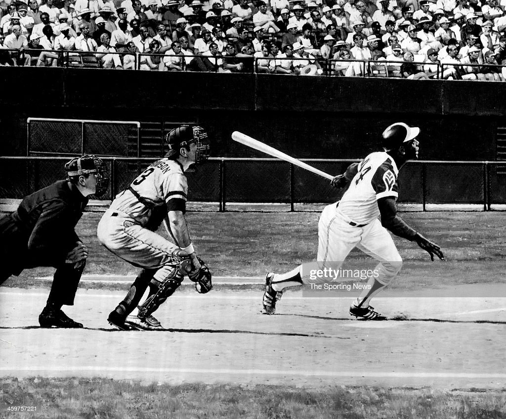Hank Aaron hits his 715th home run breaking Babe Ruth's longstanding record of 714 lifetime home runs Even now as Hank Aaron goes on establishing an...