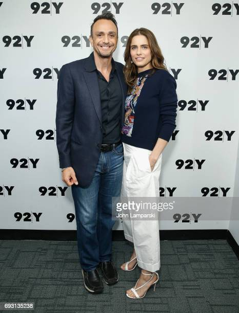 Hank Azaria and Amanda Peet attend 92Y Talks Brockmire at Kaufman Concert Hall on June 6 2017 in New York City