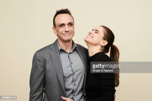 Hank Azaria and Amanda Peet pose for portrait session at the 2017 Film Independent Spirit Awards on February 25 2017 in Santa Monica California