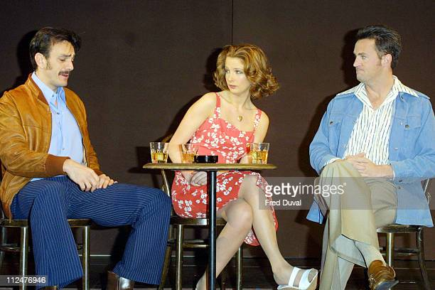 Hank Azaria Kelly Reilly and Matthew Perry during Matthew Perry In The Theatrical Production OF 'Sexual Perversity In Chicago' at Comedy Theatre in...
