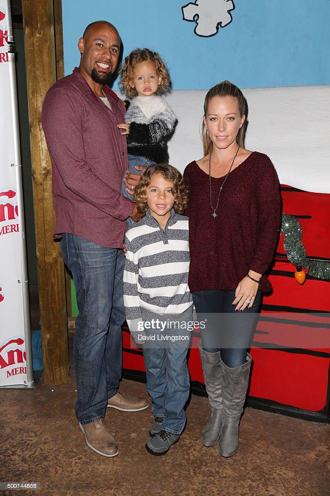Hank Baskett Alijah Baskett Hank Baskett IV and Kendra Wilkinson attend Knott's Berry Farm's Countdown To Christmas And Snoopy's Merriest Tree...